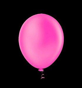 Balão de Festa Neon 9'' 23cm -Rosa - 25 unidades - São Roque - Rizzo Festas