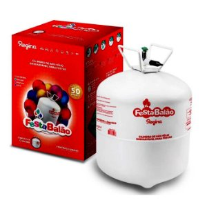 Cilindro Gás Helio Descartável para 50 Balões - Regina Festas - Rizzo Embalagens