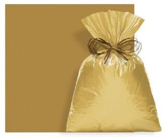 Saco Perolado Ouro Velho Adesivado 8x8cm - 100 unidades - Cromus - Rizzo Embalagens