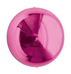 Balão Metalizado Esphera Pink 20'' - 01 unidade - Sempertex Cromus - Rizzo Festas