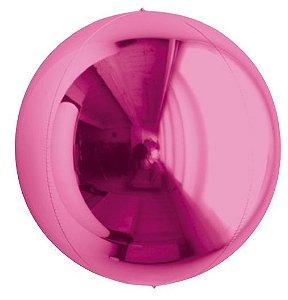 Balão Metalizado Esphera Pink 24'' - 01 unidade - Sempertex Cromus - Rizzo Festas