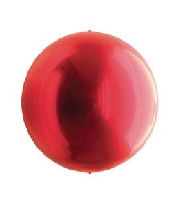 Balão Metalizado Esphera Vermelho 15'' - 01 unidade - Sempertex Cromus - Rizzo Festas