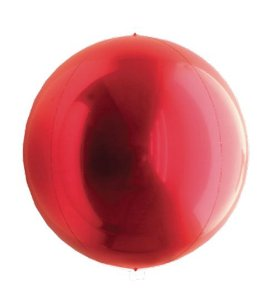 Balão Metalizado Esphera Vermelho 20'' - 01 unidade - Sempertex Cromus - Rizzo Festas