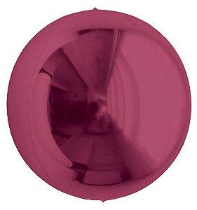 Balão Metalizado Esphera Marsala 24'' - 01 unidade - Sempertex Cromus - Rizzo Festas