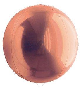 Balão Metalizado Esphera Rose Gold 24'' - 01 unidade - Sempertex Cromus - Rizzo Festas