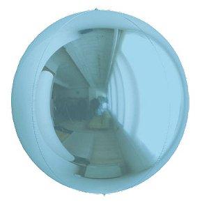 Balão Metalizado Esphera Azul Claro 24'' - 01 unidade - Sempertex Cromus - Rizzo Festas