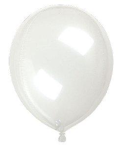 Balão Metalizado Gota Clear Transparente 15'' - Sempertex Cromus - Rizzo Festas