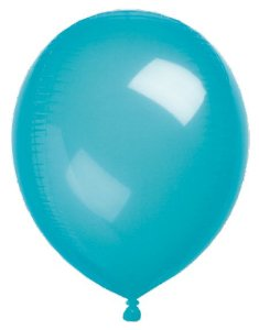 Balão Metalizado Gota Clear Azul 15'' - Sempertex Cromus - Rizzo Festas