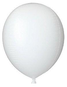 Balão Metalizado Gota Branco 15'' - Sempertex Cromus - Rizzo Festas