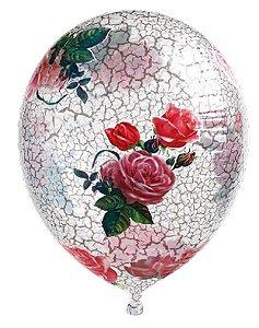 Balão Metalizado Gota Clear Rose 14'' - Sempertex Cromus - Rizzo Festas