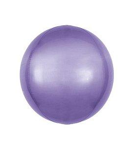 Balão Bubble Roxo 18'' 45cm - 5 unidades - Sempertex Cromus - Rizzo Festas