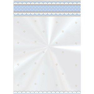 Saco Decorado Cute Azul - 15cm x 22cm - 50 unidades - Cromus - Rizzo Embalagens