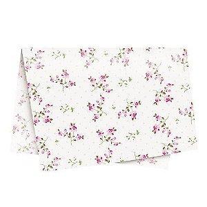 Papel de Seda - 49x69cm - Secret Garden Branco - 10 folhas - Rizzo Embalagens