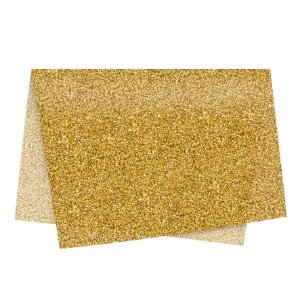 Papel de Seda - 49x69cm - Glitter Ouro - 10 folhas - Rizzo Embalagens