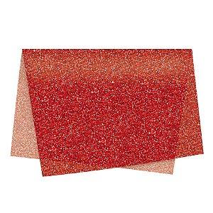 Papel de Seda - 49x69cm - Glitter Vermelho - 10 folhas - Rizzo Embalagens
