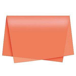 Papel de Seda - 49x69cm - Laranja - 10 folhas - Rizzo Embalagens