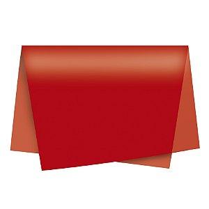 Papel de Seda - 49x69cm - Vermelho - 10 folhas - Rizzo Embalagens