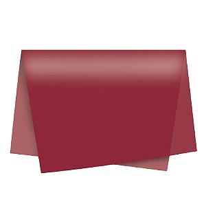 Papel de Seda - 49x69cm - Vinho - 10 folhas - Rizzo Embalagens