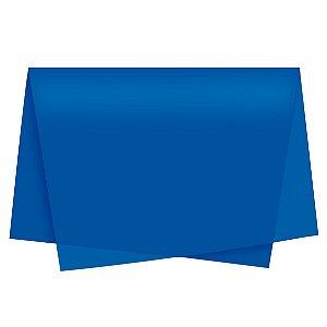Papel de Seda - 49x69cm - Azul Royal - 10 folhas - Rizzo Embalagens