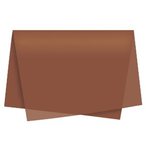 Papel de Seda - 49x69cm - Marrom - 10 folhas - Rizzo Embalagens