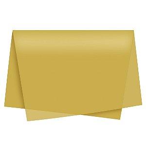 Papel de Seda - 49x69cm - Ouro - 10 folhas - Rizzo Embalagens