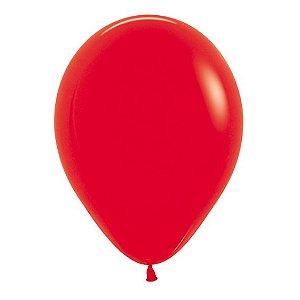 Balão de Festa Latex R12'' 30cm - Fashion Vermelho - 50 unidades - Sempertex Cromus - Rizzo Festas