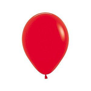 Balão de Festa Latex R10'' 25cm - Fashion Vermelho - 50 unidades - Sempertex Cromus - Rizzo Festas