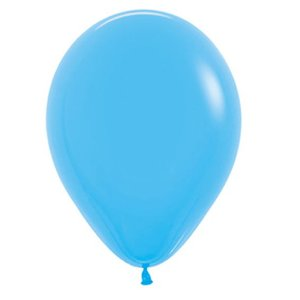 Balão de Festa Latex R12'' 30cm - Fashion Azul - 50 unidades - Sempertex Cromus - Rizzo Festas