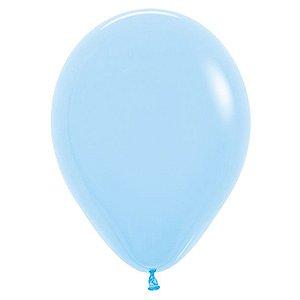 Balão de Festa Latex R12'' 30cm - Fashion Azul Celeste - 50 unidades - Sempertex Cromus - Rizzo Festas