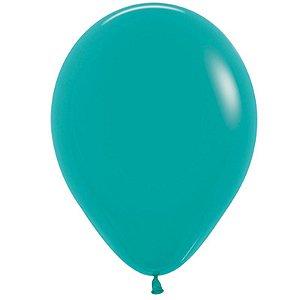 Balão de Festa Latex R12'' 30cm - Fashion Turquesa - 50 unidades - Sempertex Cromus - Rizzo Festas