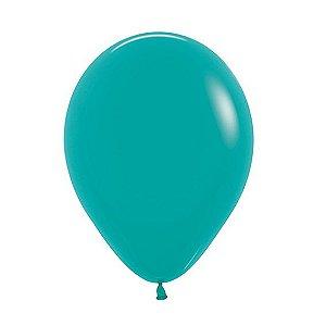 Balão de Festa Latex R10'' 25cm - Fashion Turquesa - 50 unidades - Sempertex Cromus - Rizzo Festas
