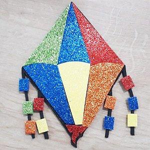 Aplique em EVA Balão G Glitter 15cm - 1 unidade - Make Festas - Rizzo Embalagens
