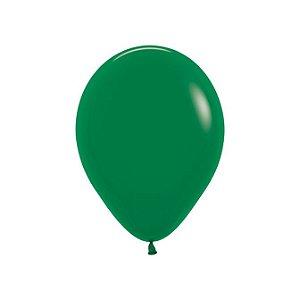 Balão de Festa Latex R10'' 25cm - Fashion Verde Selva - 50 unidades - Sempertex Cromus - Rizzo Festas