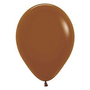 Balão de Festa Latex R12'' 30cm - Fashion Caramelo - 50 unidades - Sempertex Cromus - Rizzo Festas