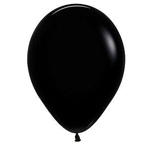 Balão de Festa Latex R12'' 30cm - Fashion Preto - 50 unidades - Sempertex Cromus - Rizzo Festas