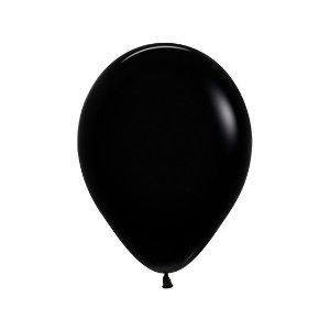 Balão de Festa Latex R10'' 25cm - Fashion Preto - 50 unidades - Sempertex Cromus - Rizzo Festas