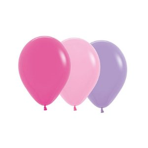 Balão de Festa Latex R10'' 25cm - Sortido Menina - 50 unidades - Sempertex Cromus - Rizzo Festas