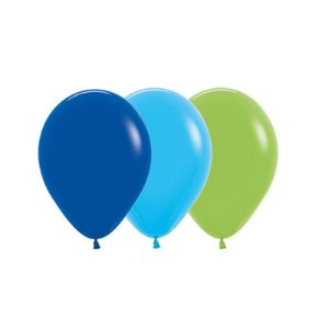 Balão de Festa Latex R10'' 25cm - Sortido Menino - 50 unidades - Sempertex Cromus - Rizzo Festas