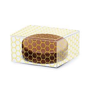 Caixa Clean Pão de Mel Favo 8 x 8 x 4cm - 10 unidades - Cromus - Rizzo Embalagens