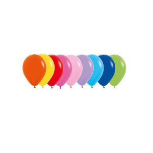 Balão de Festa Latex Sólido R5'' 12cm - Sortido - 50 unidades - Sempertex Cromus - Rizzo Festas