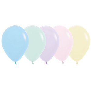 Balão de Festa Latex R12'' 30cm - Sortido Pastel Matte - 50 unidades - Sempertex Cromus - Rizzo Festas