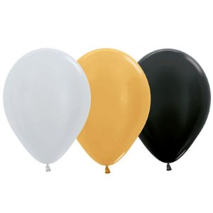Balão de Festa Latex R12'' 30cm - Sortido Deluxe Satin Perolado - 50 unidades - Sempertex Cromus - Rizzo Festas