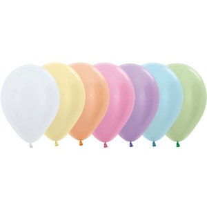 Balão de Festa Latex R12'' 30cm - Sortido Satin Perolado - 50 unidades - Sempertex Cromus - Rizzo Festas
