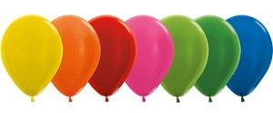 Balão de Festa Latex R12'' 30cm - Sortido Metal - 50 unidades - Sempertex Cromus - Rizzo Festas