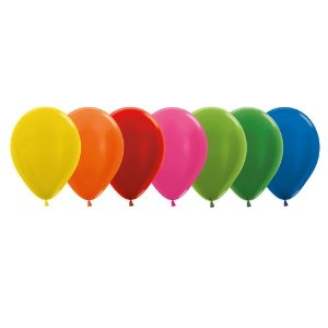 Balão de Festa Latex R5'' 12cm - Sortido Metal - 50 unidades - Sempertex Cromus - Rizzo Festas