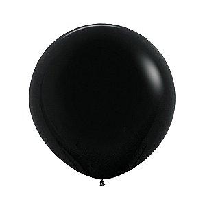 Balão de Festa Latex R24'' 60cm - Fashion Preto - 03 unidades - Sempertex Cromus - Rizzo Festas