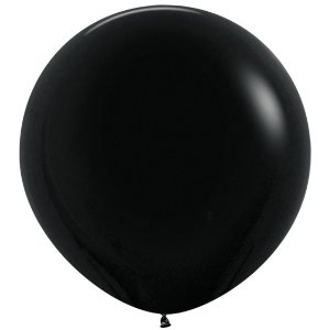 Balão de Festa Latex R36'' 91,5cm - Fashion Preto - 02 unidades - Sempertex Cromus - Rizzo Festas