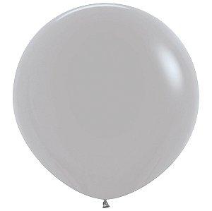 Balão de Festa Latex R36'' 91,5cm - Fashion Cinza - 02 unidades - Sempertex Cromus - Rizzo Festas