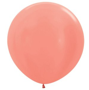 Balão de Festa Latex R36'' 91,5cm - Metal Rose Gold - 02 unidades - Sempertex Cromus - Rizzo Festas