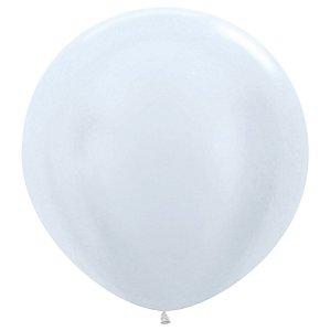 Balão de Festa Latex R36'' 91,5cm - Satin Pérola - 02 unidades - Sempertex Cromus - Rizzo Festas